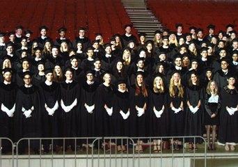 センメルワイス大学卒業式の集合写真