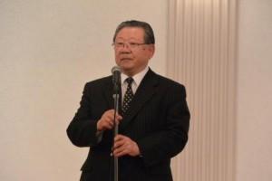 HMU理事長・川田先生のスピーチ