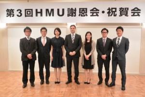 セルダヘイ駐日ハンガリー大使と卒業生の6名